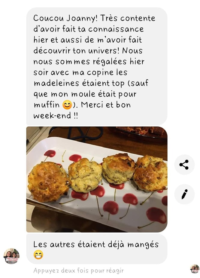Avis pour des madeleines en forme de muffins